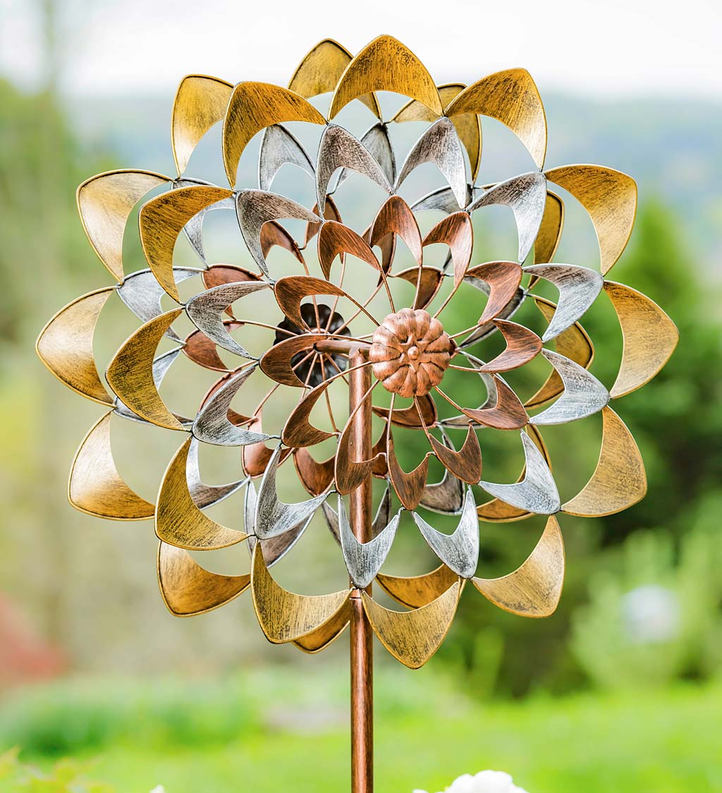 Precious Metals Copper, Silver and Gold Wind Spinner