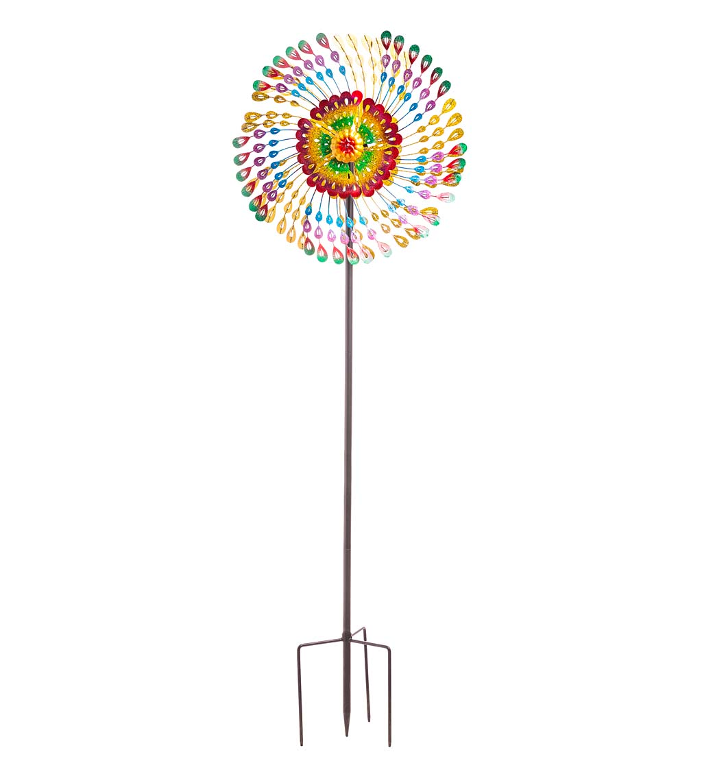 Rainbow Feathers Wind Spinner