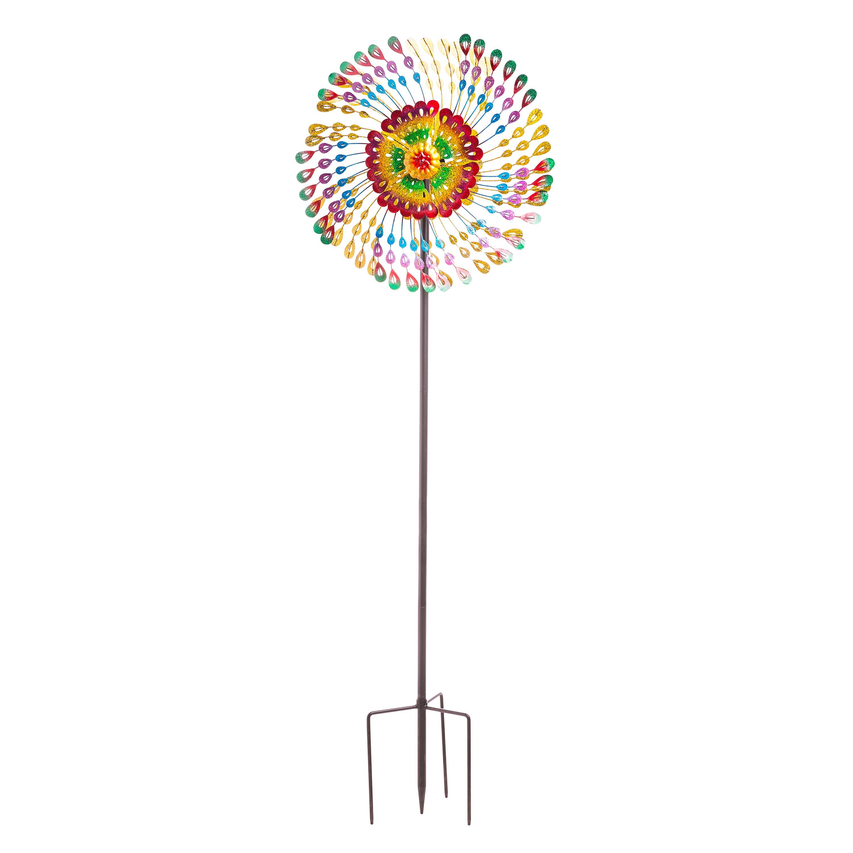 Rainbow Feathers Wind Spinner
