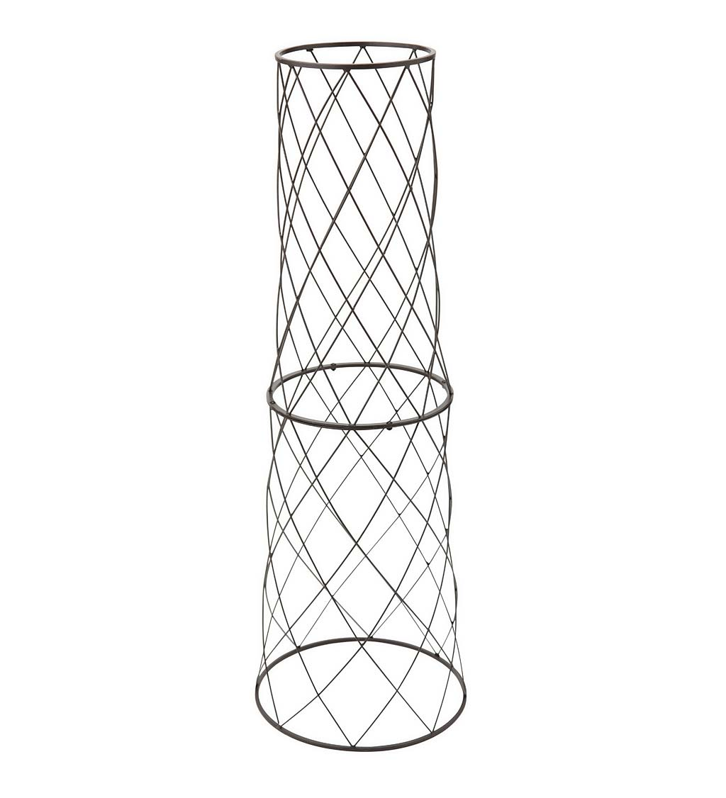 "Small Metal Planter/Pot Trellis, 40""H"