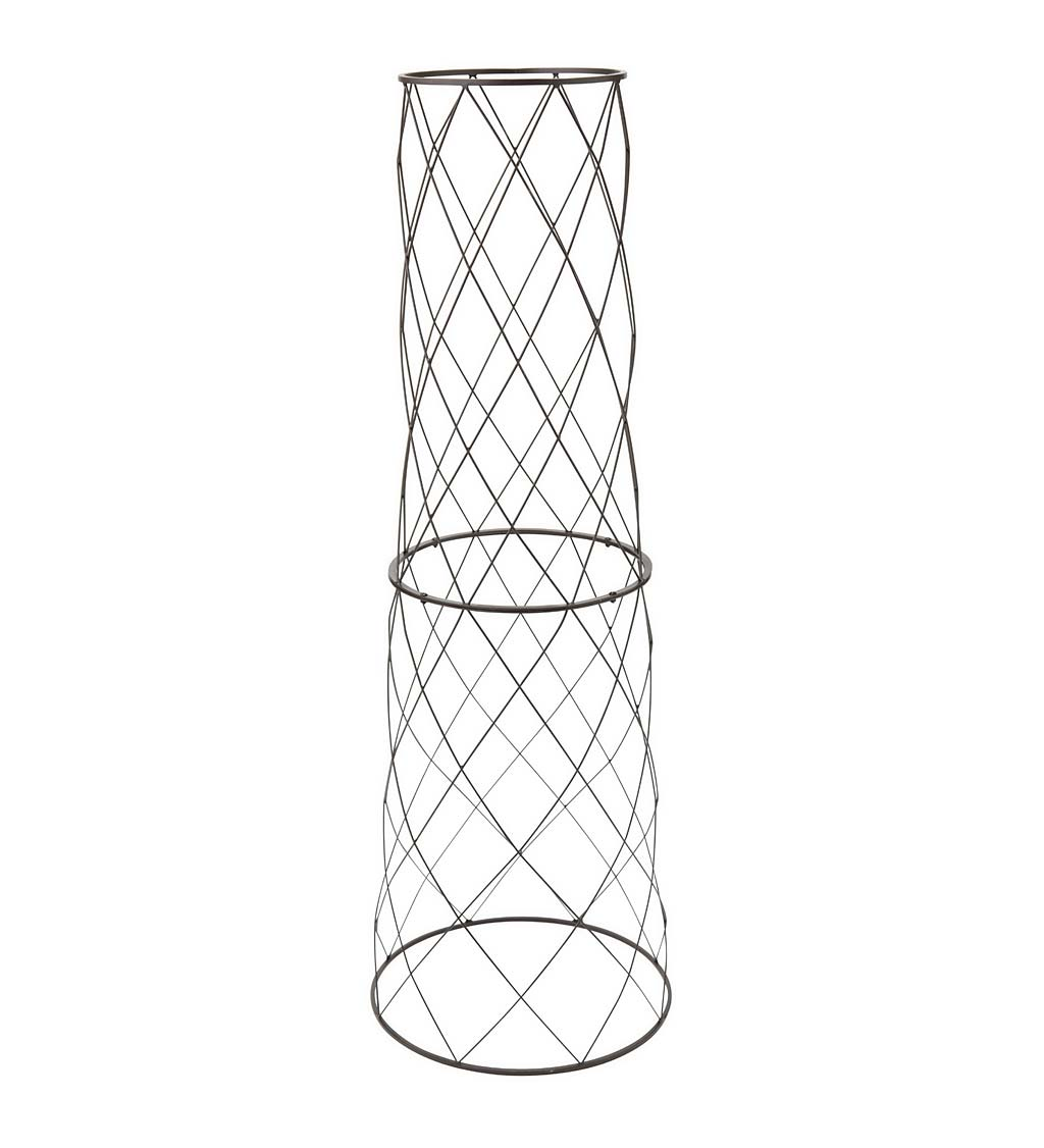 "Large Metal Planter/Pot Trellis, 46""H"