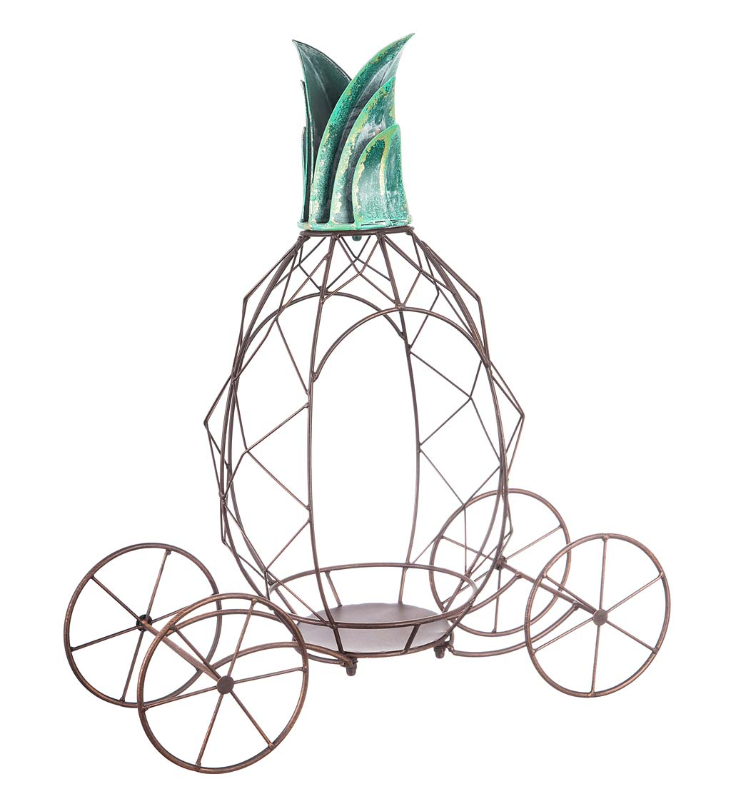 Metal Pineapple Plant Stand
