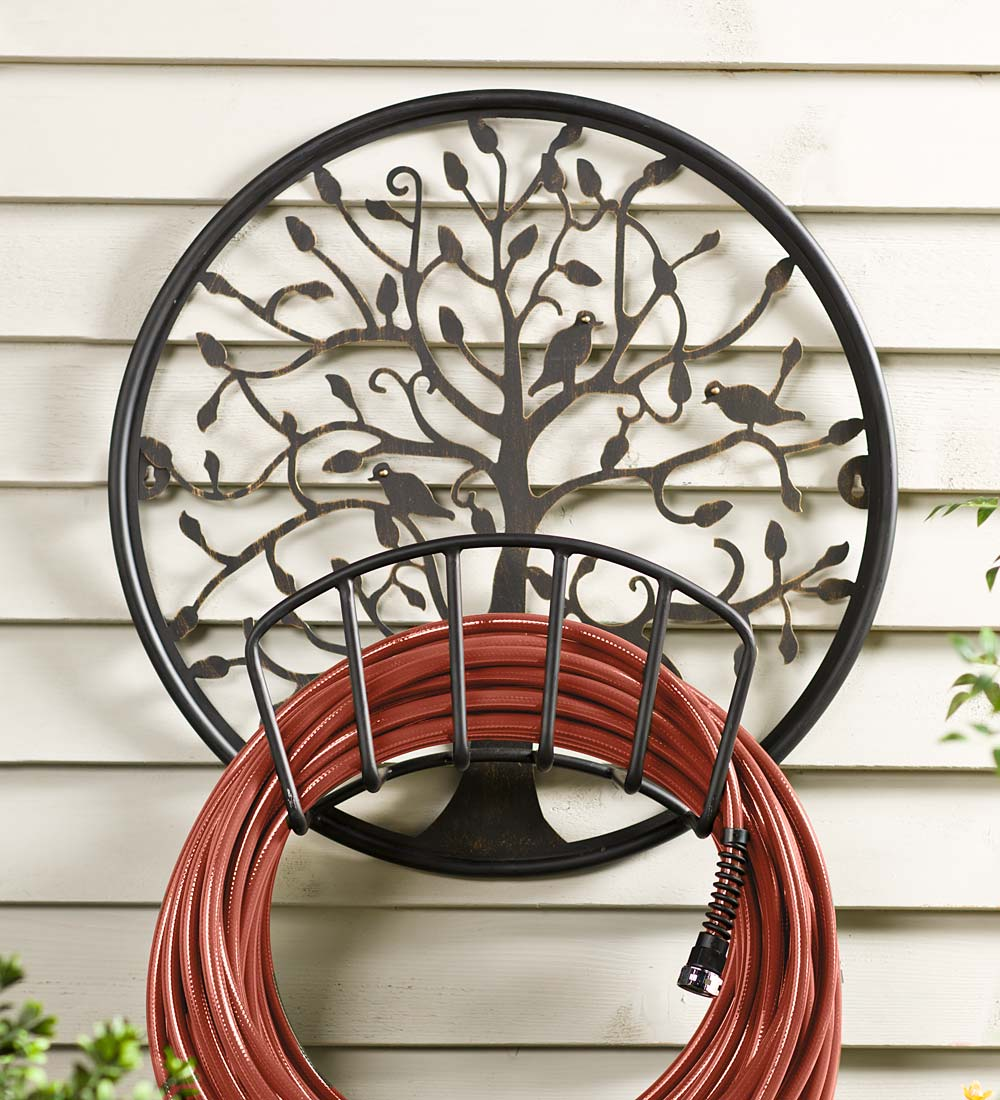 Tree of Life Metal Hose Holder