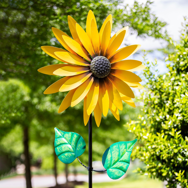 Yellow Sunflower Wind Spinner