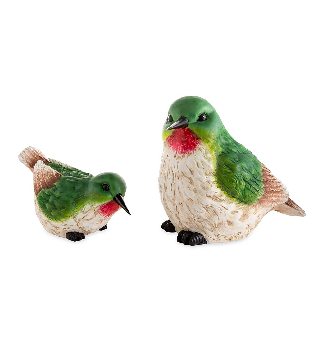 Colorful Oversized Hummingbird Garden Statues, Set of 2