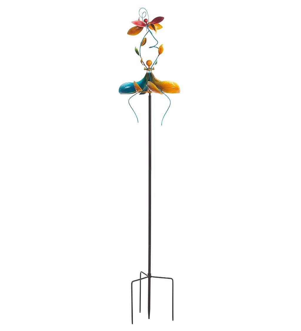 Tiered Horizontal Dancing Wind Spinner