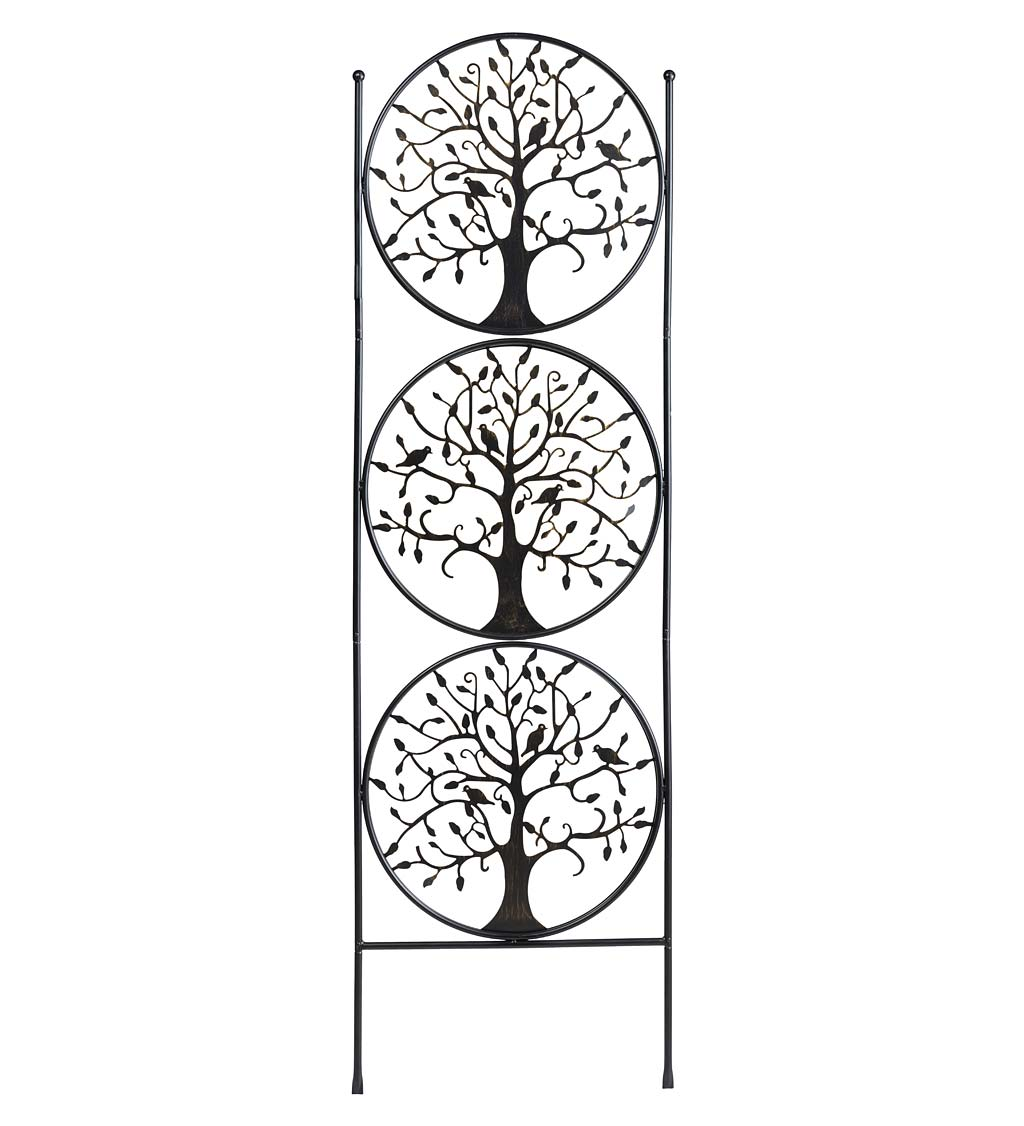 Tree of Life Circle Trio Metal Garden Trellis