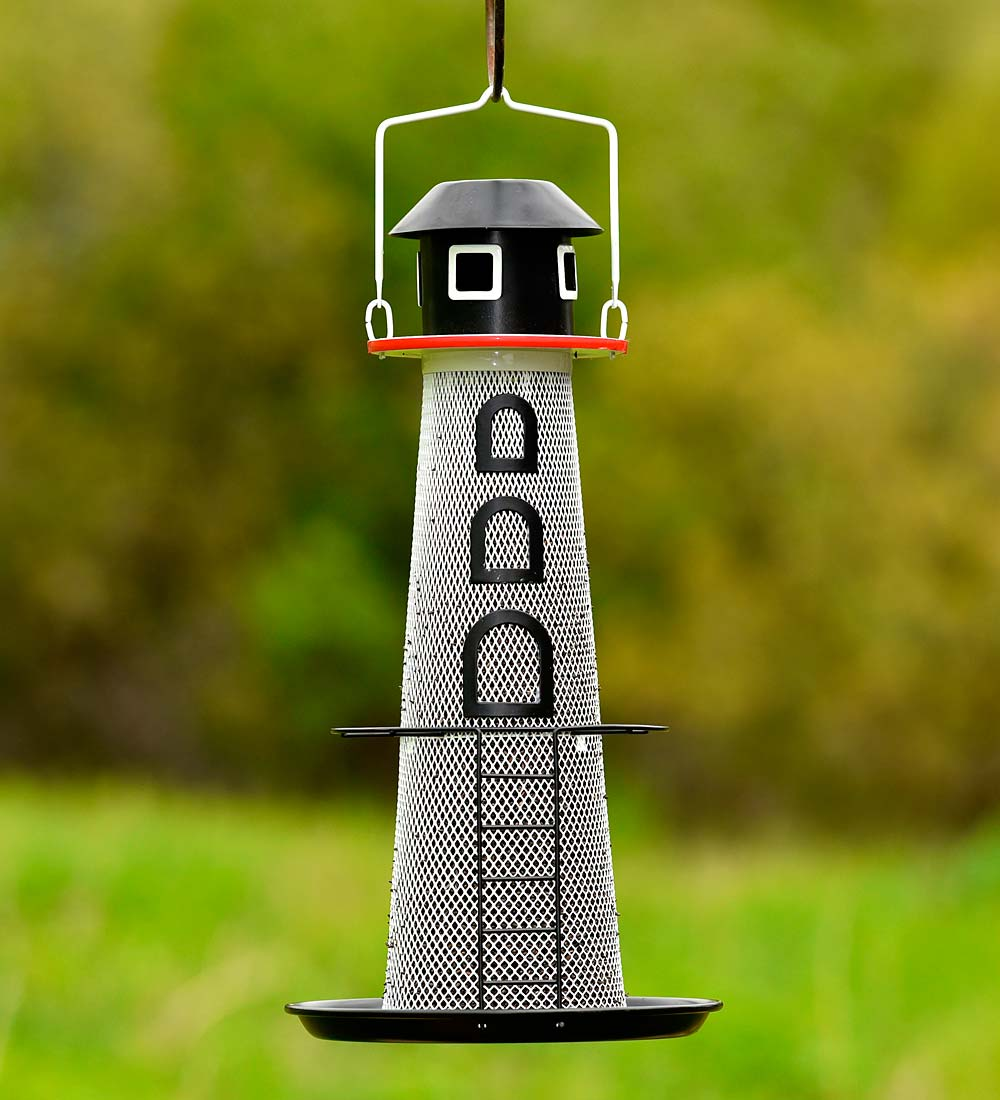 Solar Lighthouse No-No Bird Feeder (Home & Garden Decor) photo