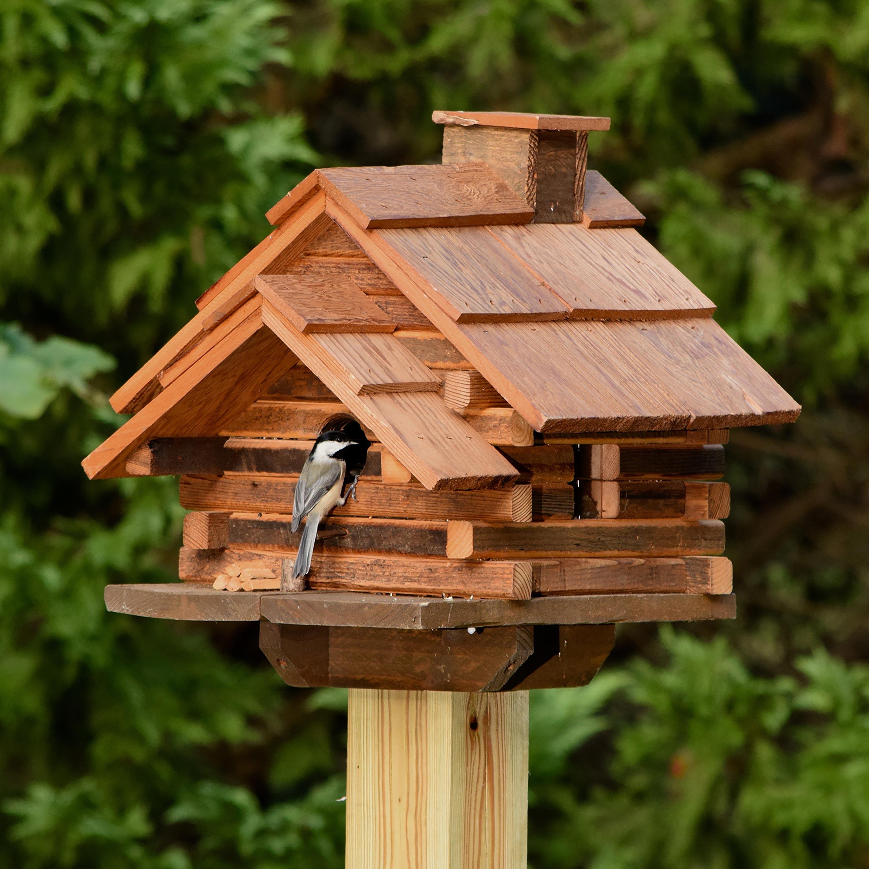 Conestoga Log Cabin Birdhouse, Made in USA