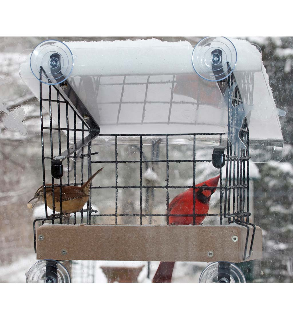 Window-Mount Platform Bird Feeder Kit (789453650702 Home & Garden Decor) photo