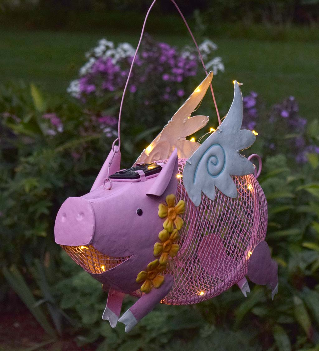 Flying Pig Solar Bird Feeder (Home & Garden Decor) photo