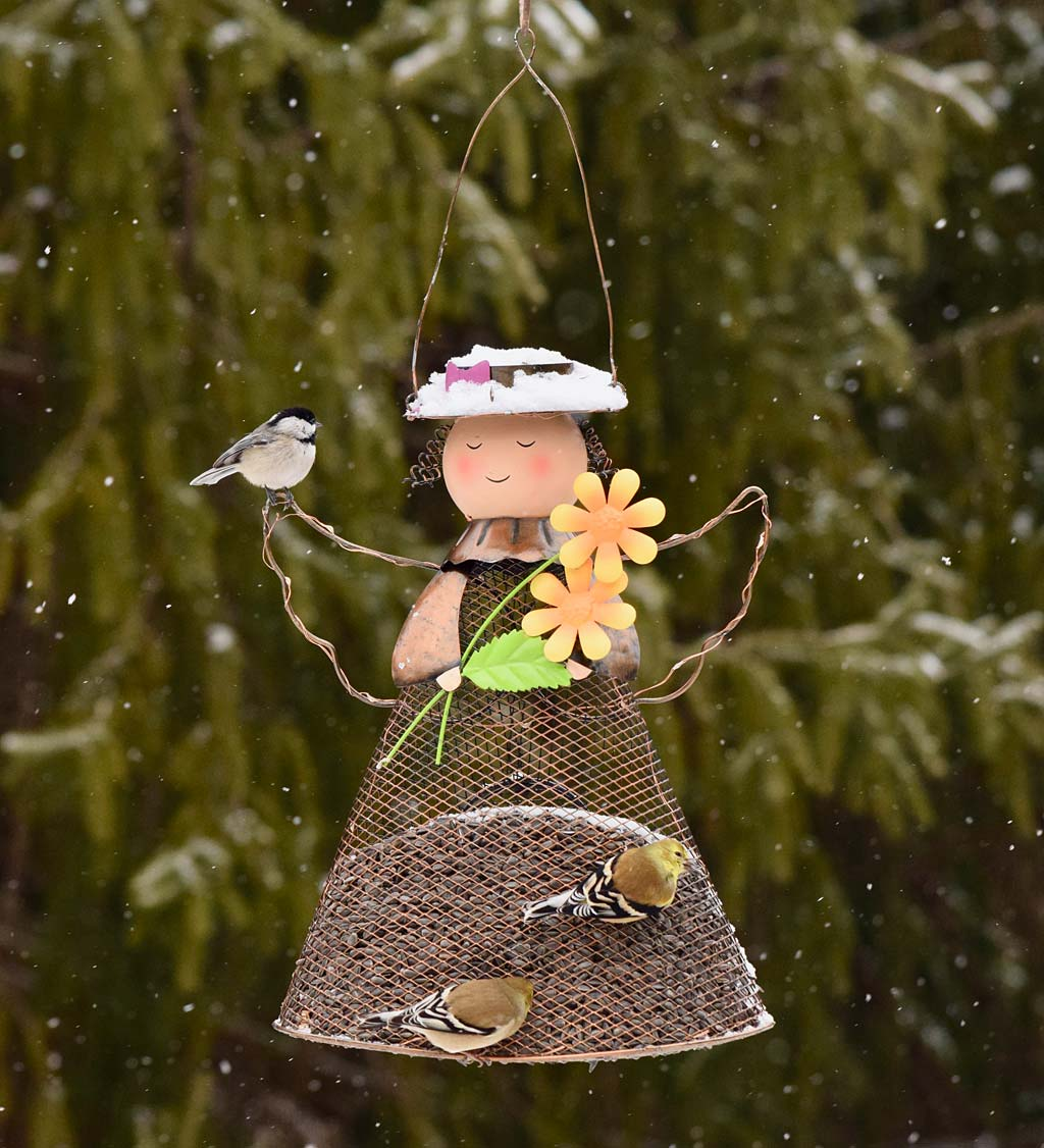 Solar Fairy Bird Feeder with LED Lights (Home & Garden Decor) photo