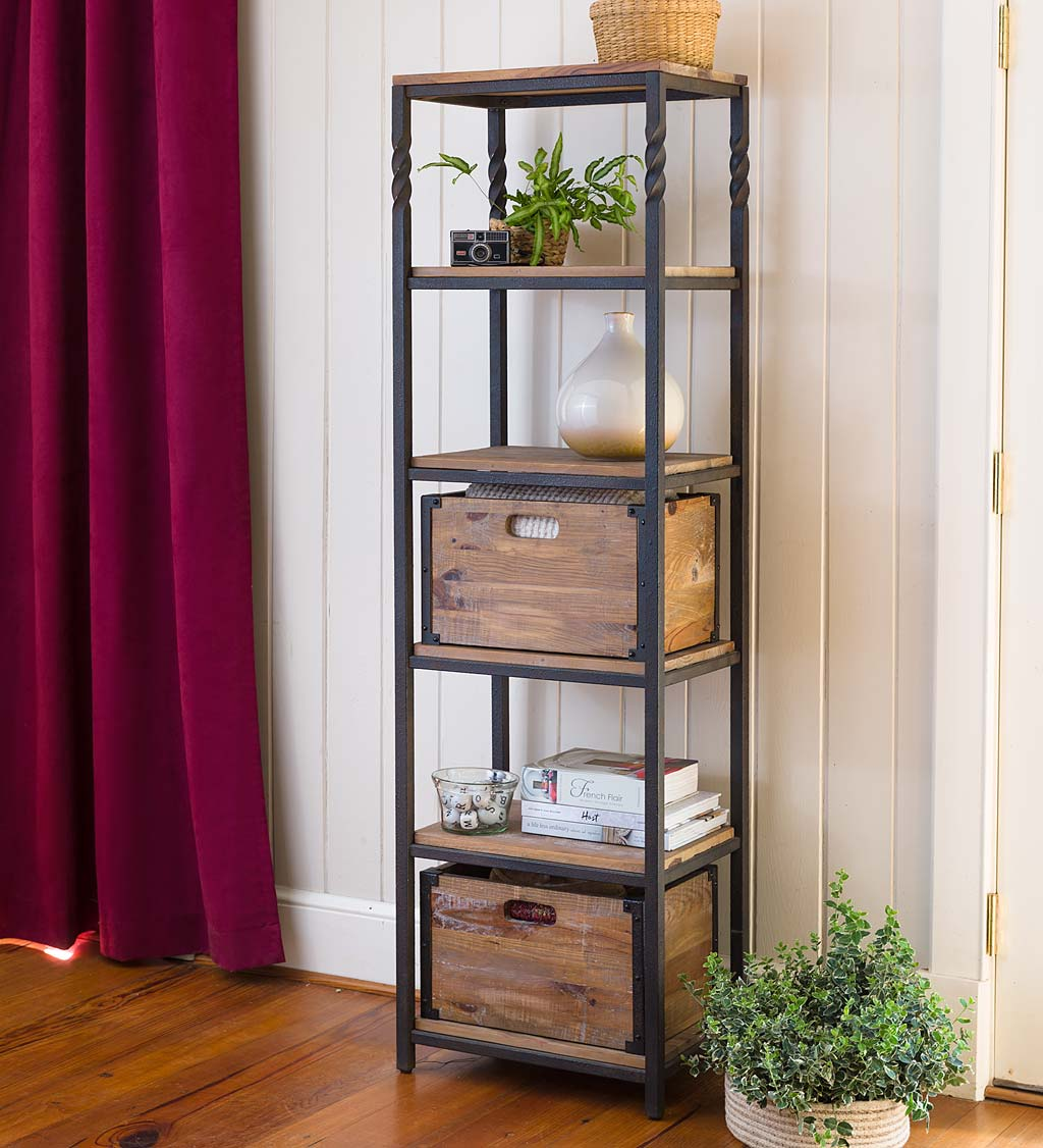 Deep Creek Etagere Storage Stand with Shelves