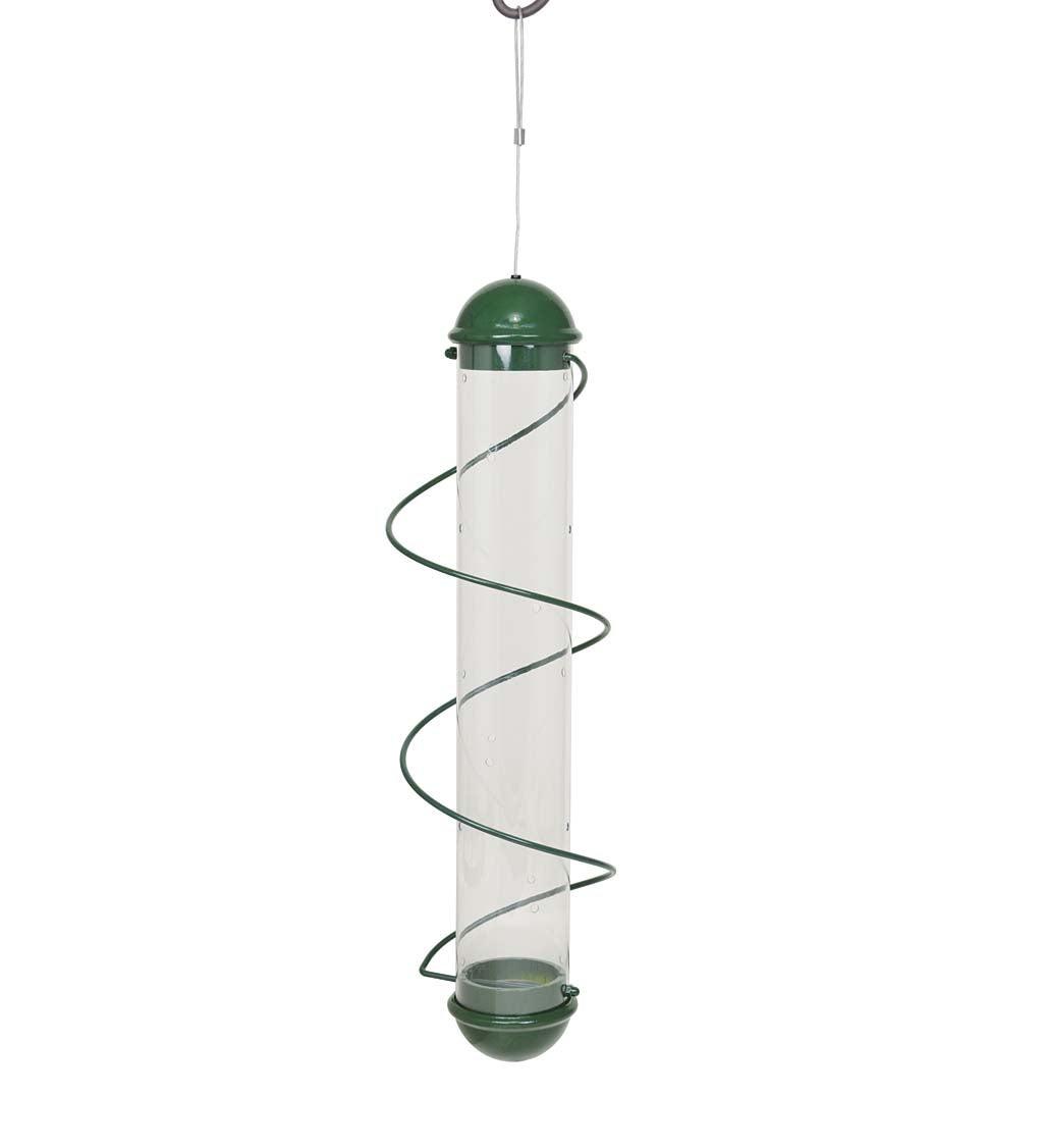 Green Spiral-Perch Finch Bird Feeder