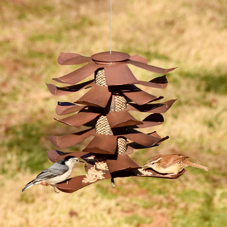 Metal Pine Cone Bird Feeder (Home & Garden Decor) photo