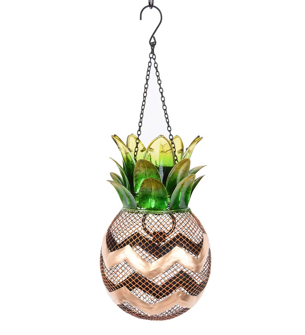 Solar Pineapple Metal Bird Feeder (Home & Garden Decor) photo