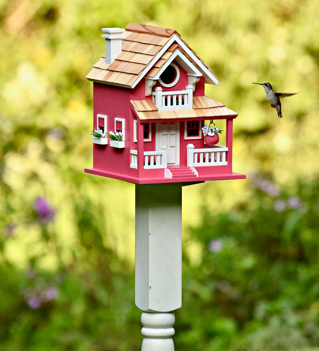 In The Pink Cottage Birdhouse