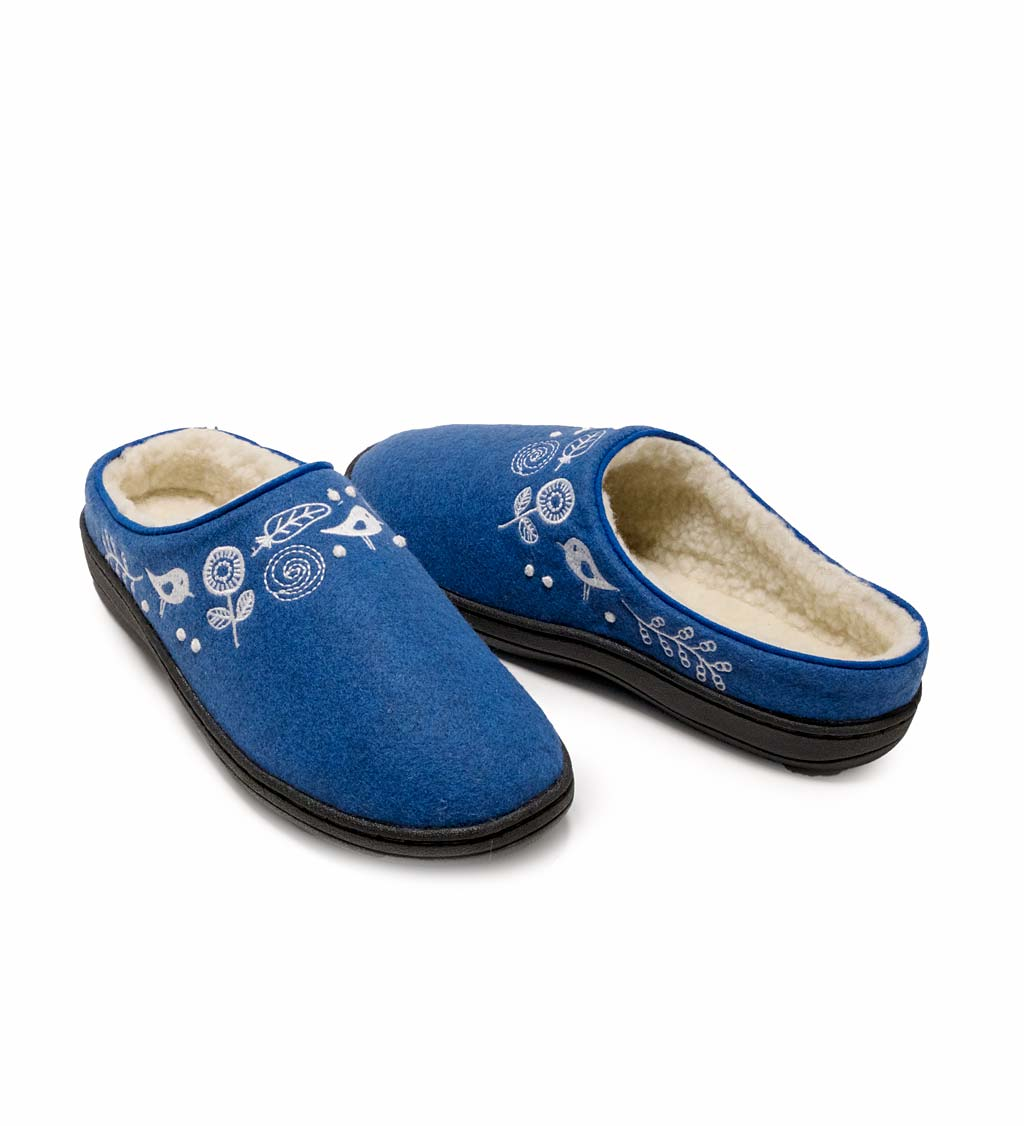 Acorn Talara Mule Slippers, in Blue Heather Size M (6½-7½)