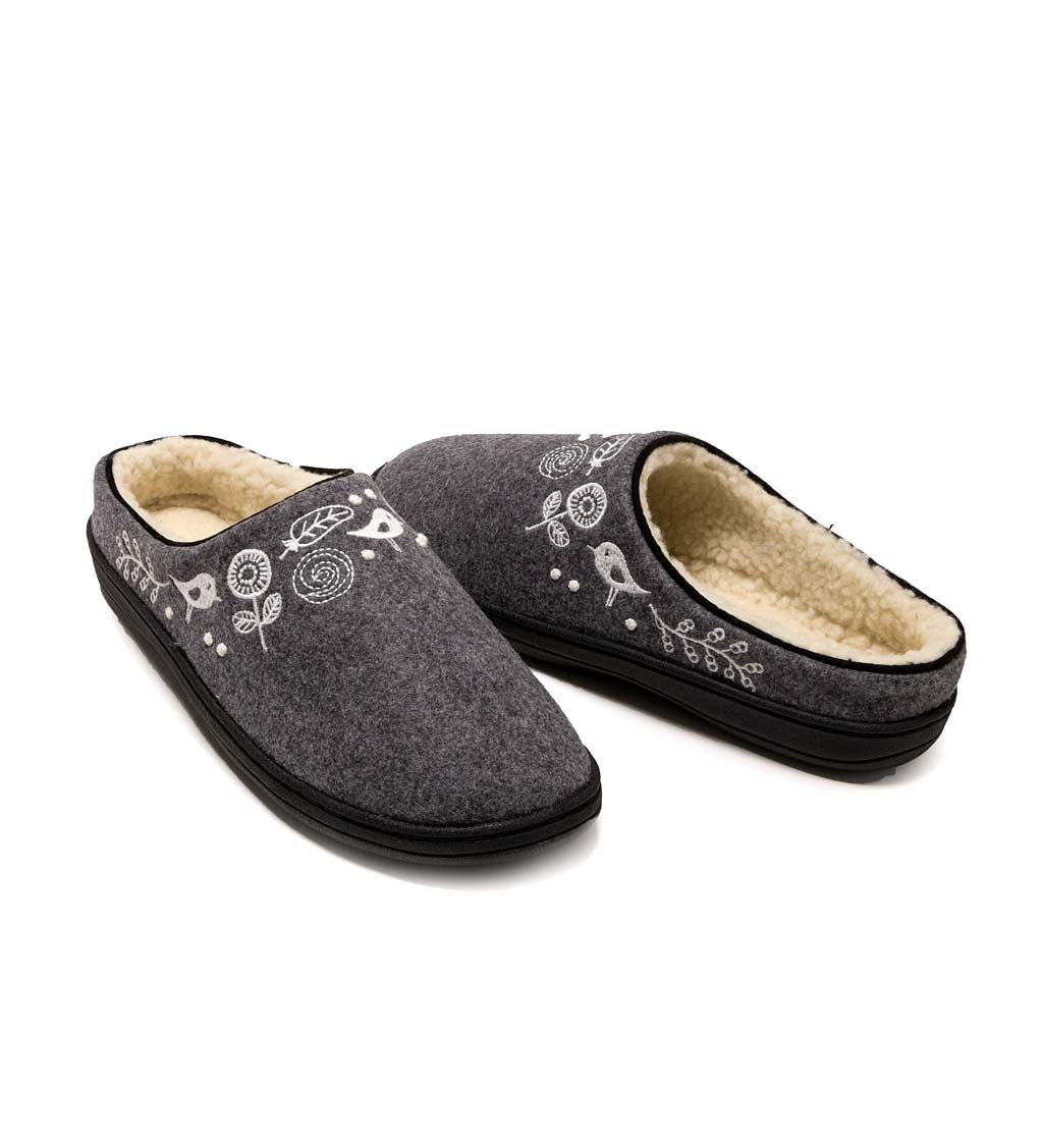 Acorn Talara Mule Slippers, in Charcoal Heather Size L (8-9)