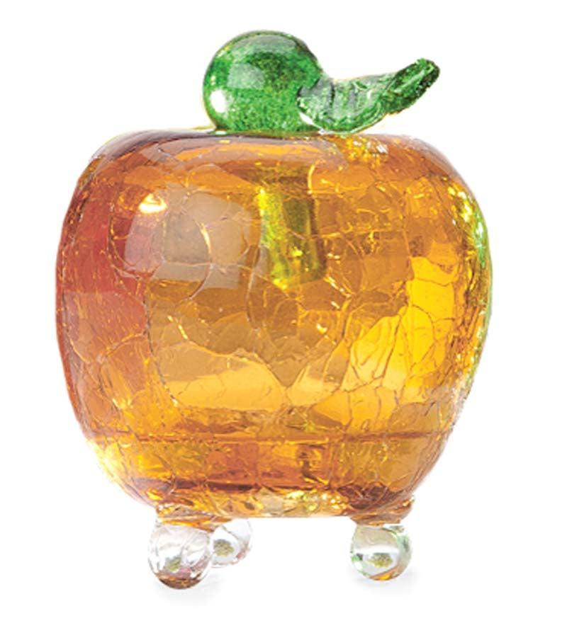 Handmade Crackle Glass Apple Fruit Fly Trap