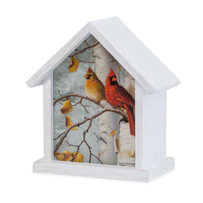 Lighted Cardinal Birdhouse Accent (Home & Garden Decor) photo