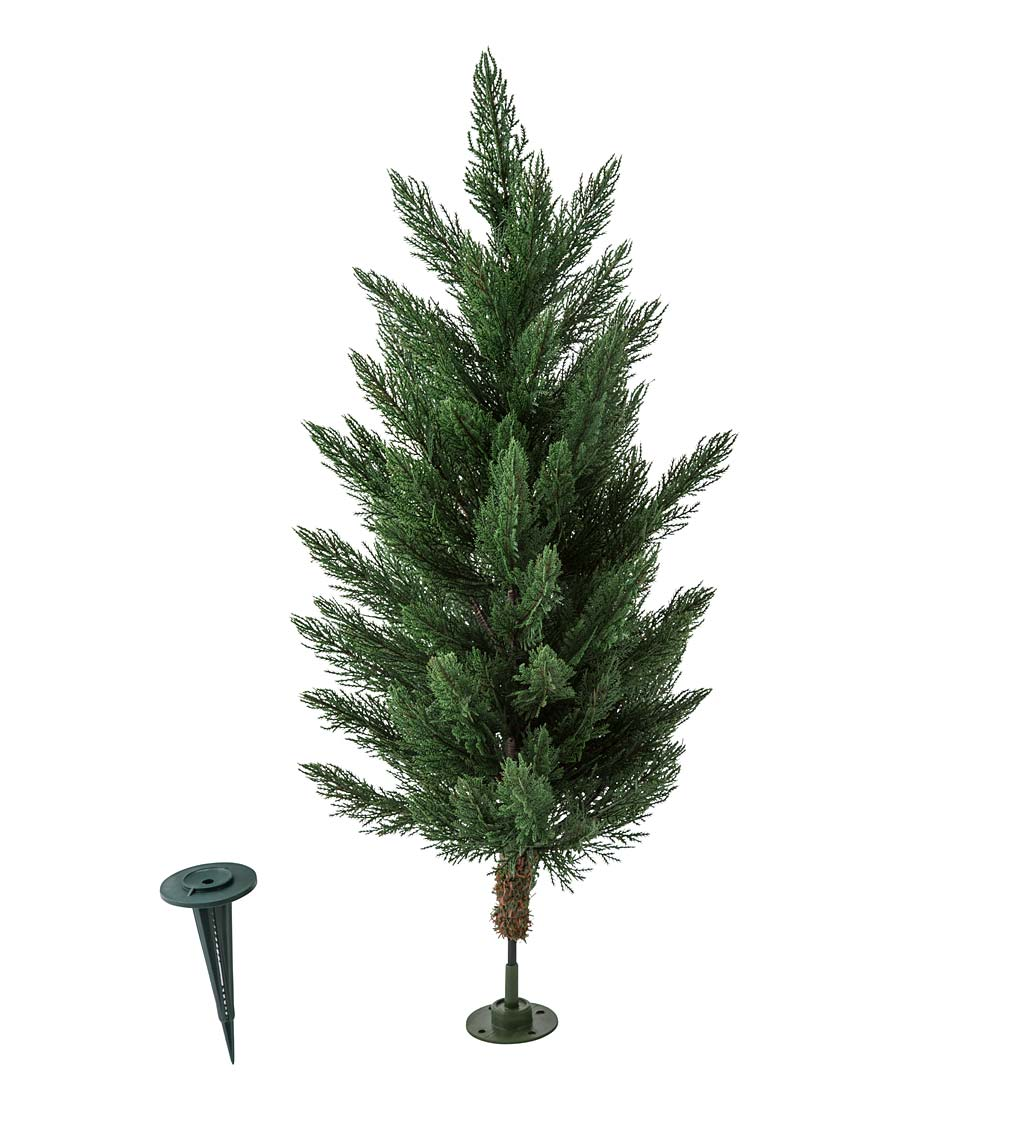 "Small Faux Cedar Tree, 24""H"
