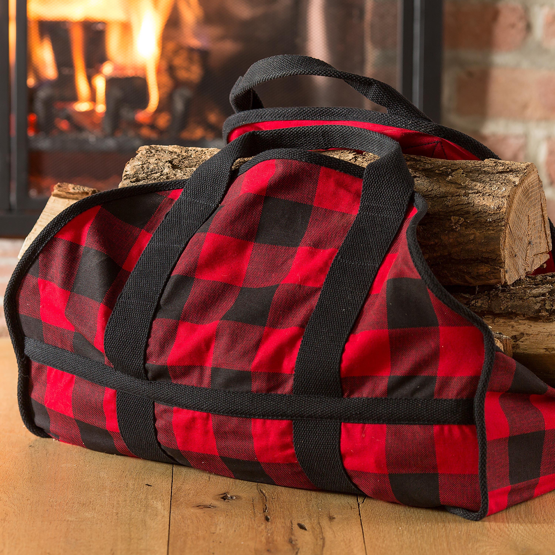 Buffalo Check Firewood Tote Log Carrier