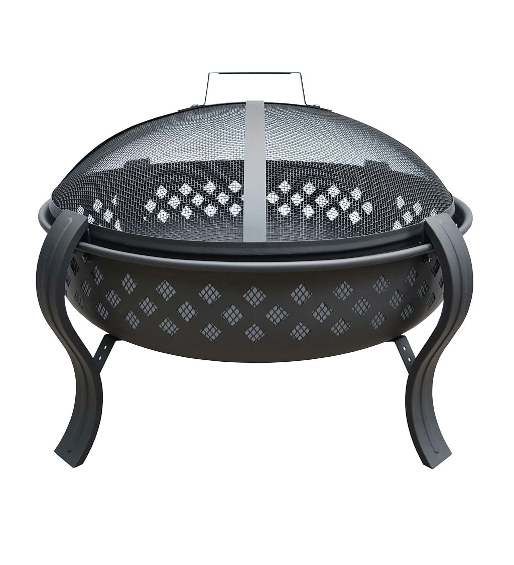 Brookfield Diamond Wood-Burning Fire Pit with Poker