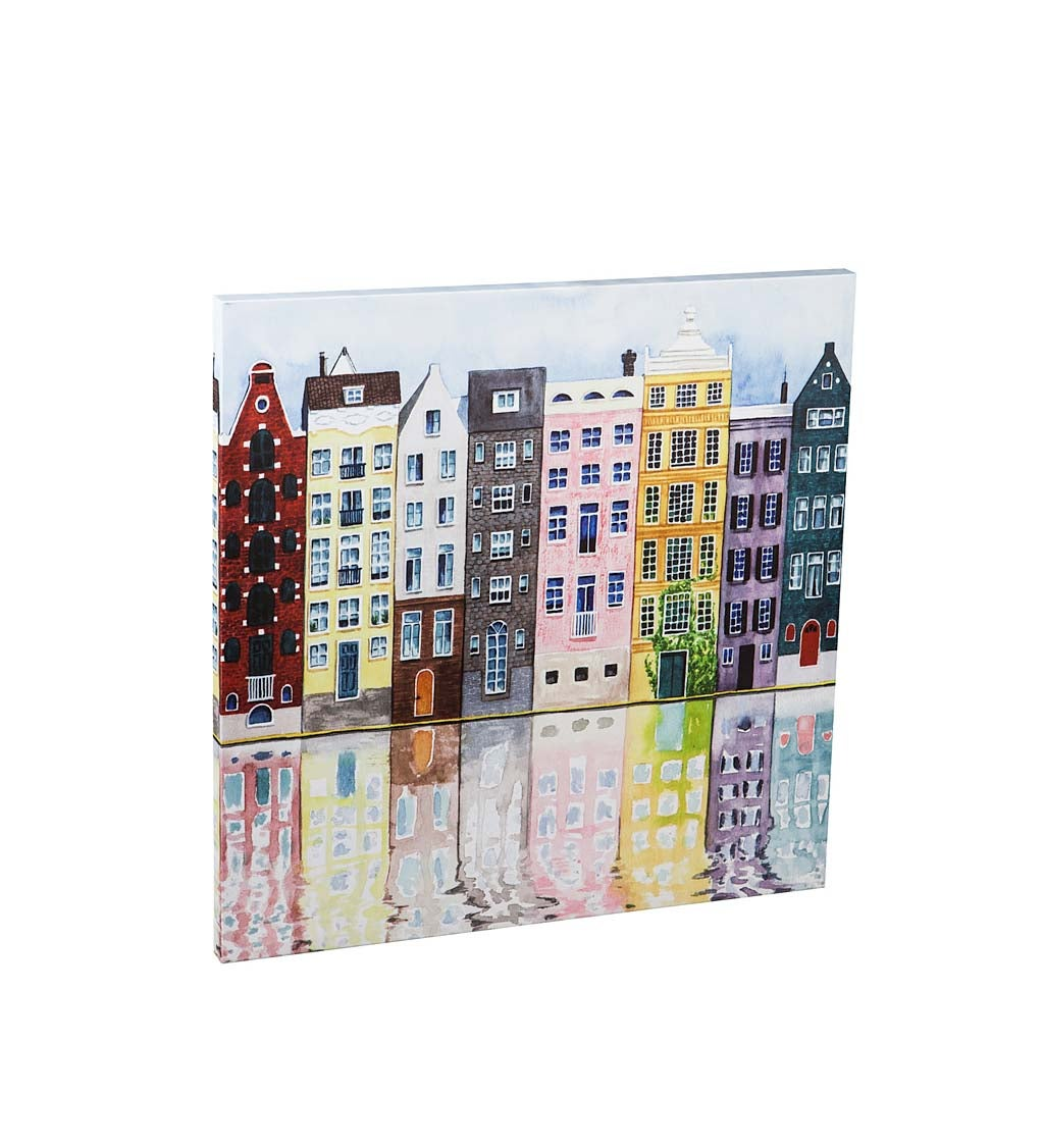 Colorful Neighborhood Indoor Wall Canvas Artwork