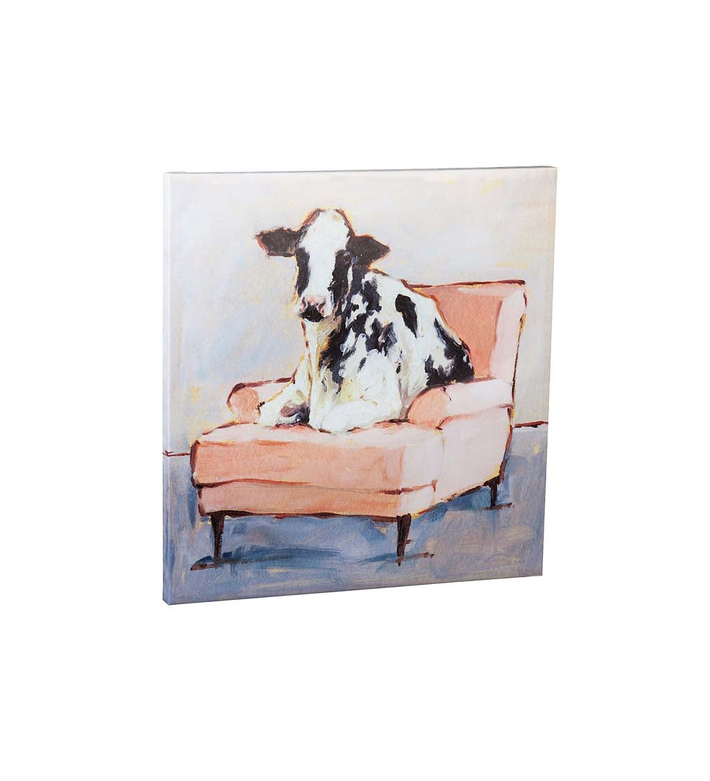 Moo-ving In Indoor Wall Canvas Artwork