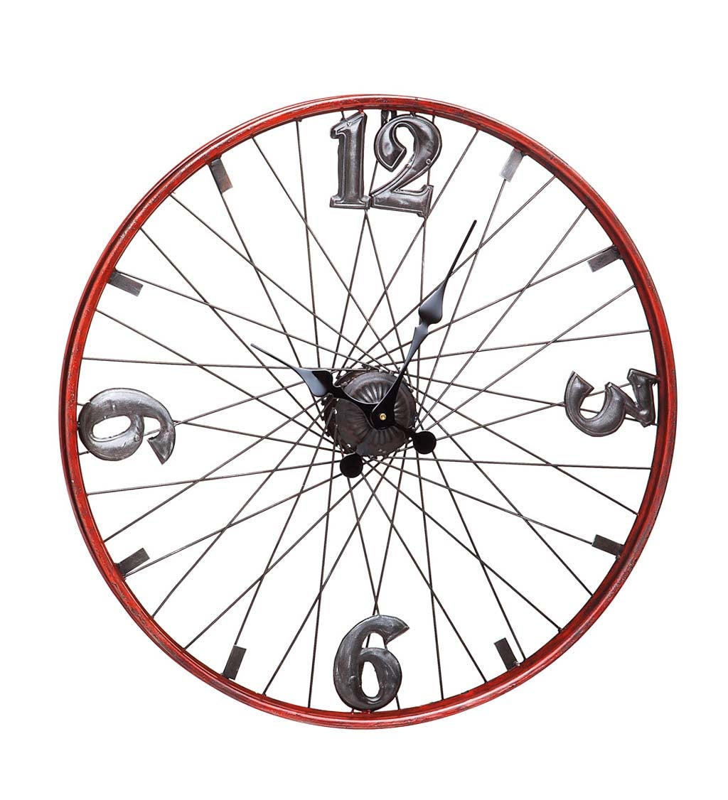 Vintage Metal Bicycle Wheel Clock