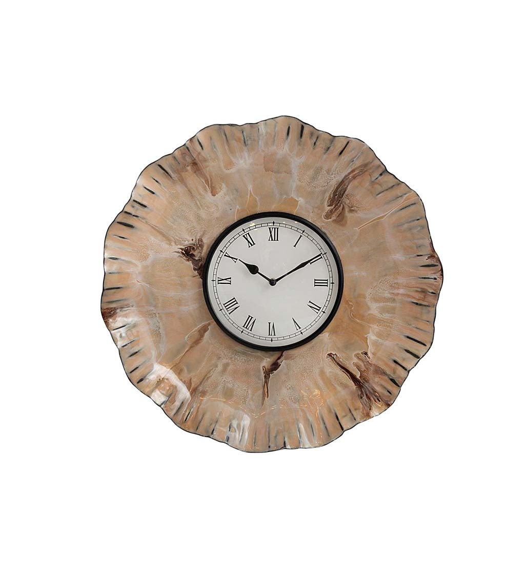 Bold Sculpted Metal Wall Clock