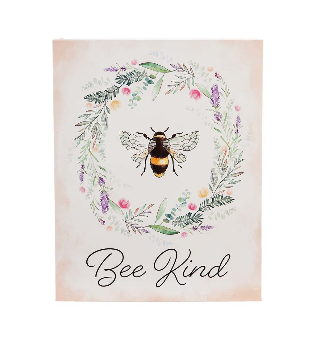 Bee Kind LED Canvas Wall Décor