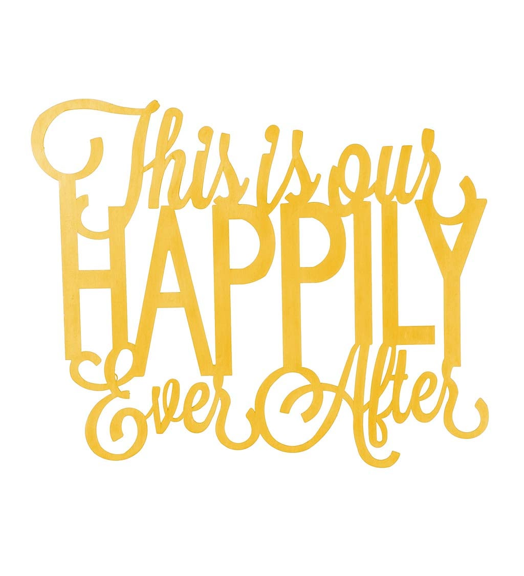This Is Our Happily Ever After Cursive Metal Sign