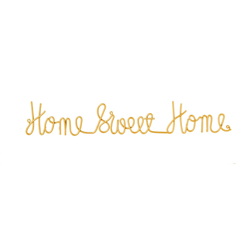 Home Sweet Home Cursive Metal Sign