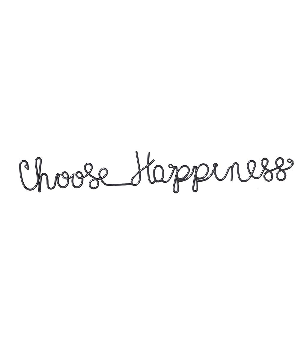 Choose Happiness Cursive Metal Sign