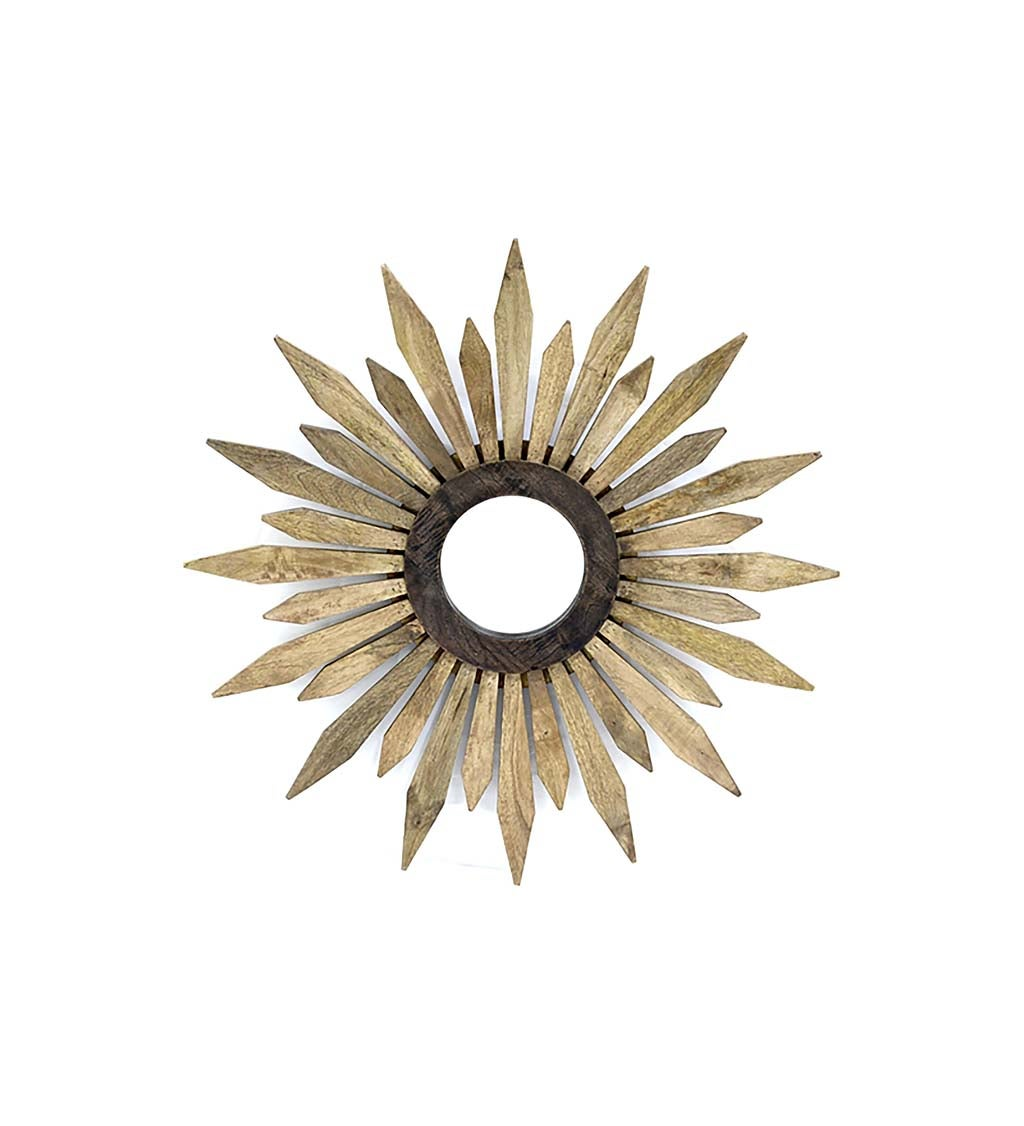 Natural Flower Wooden Mirror