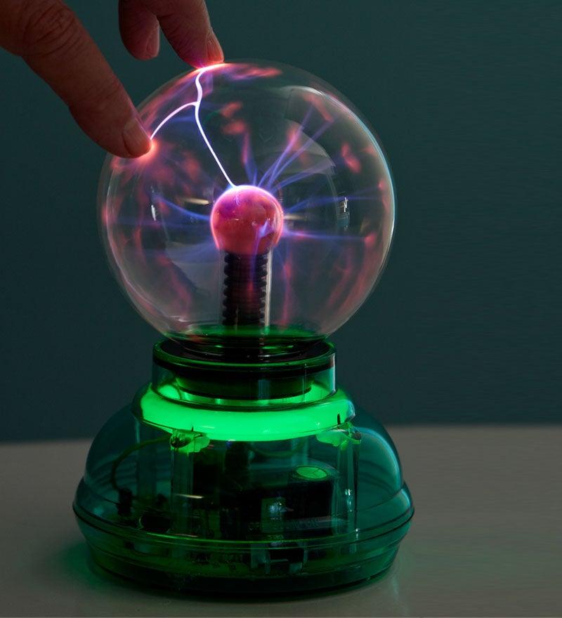 "6"" battery-free ultra bright led light plasma ball"
