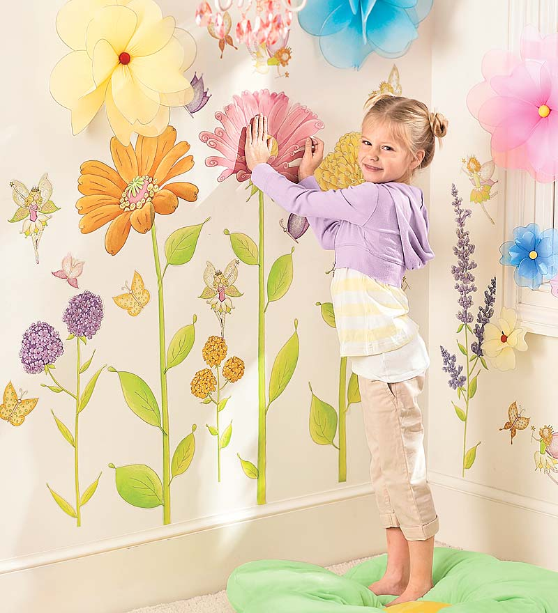 Set of 42 Assorted Fairy Garden Hand Drawn Decorative Wall Stickers