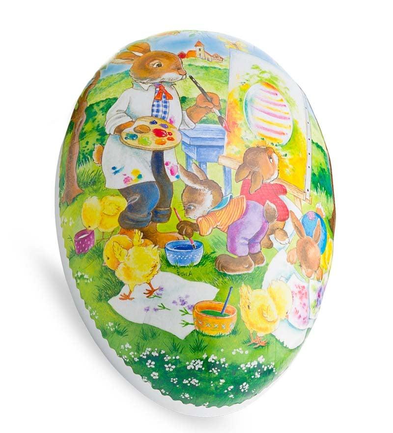 enormous papier-mache easter egg