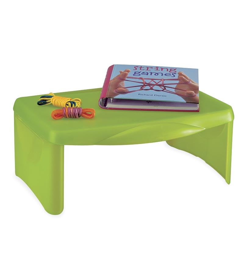 Kids Folding & Portable Lap Desk with Storage, in Green