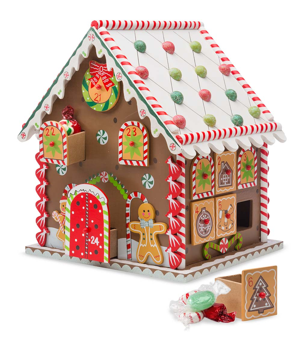 Wooden Gingerbread Advent House