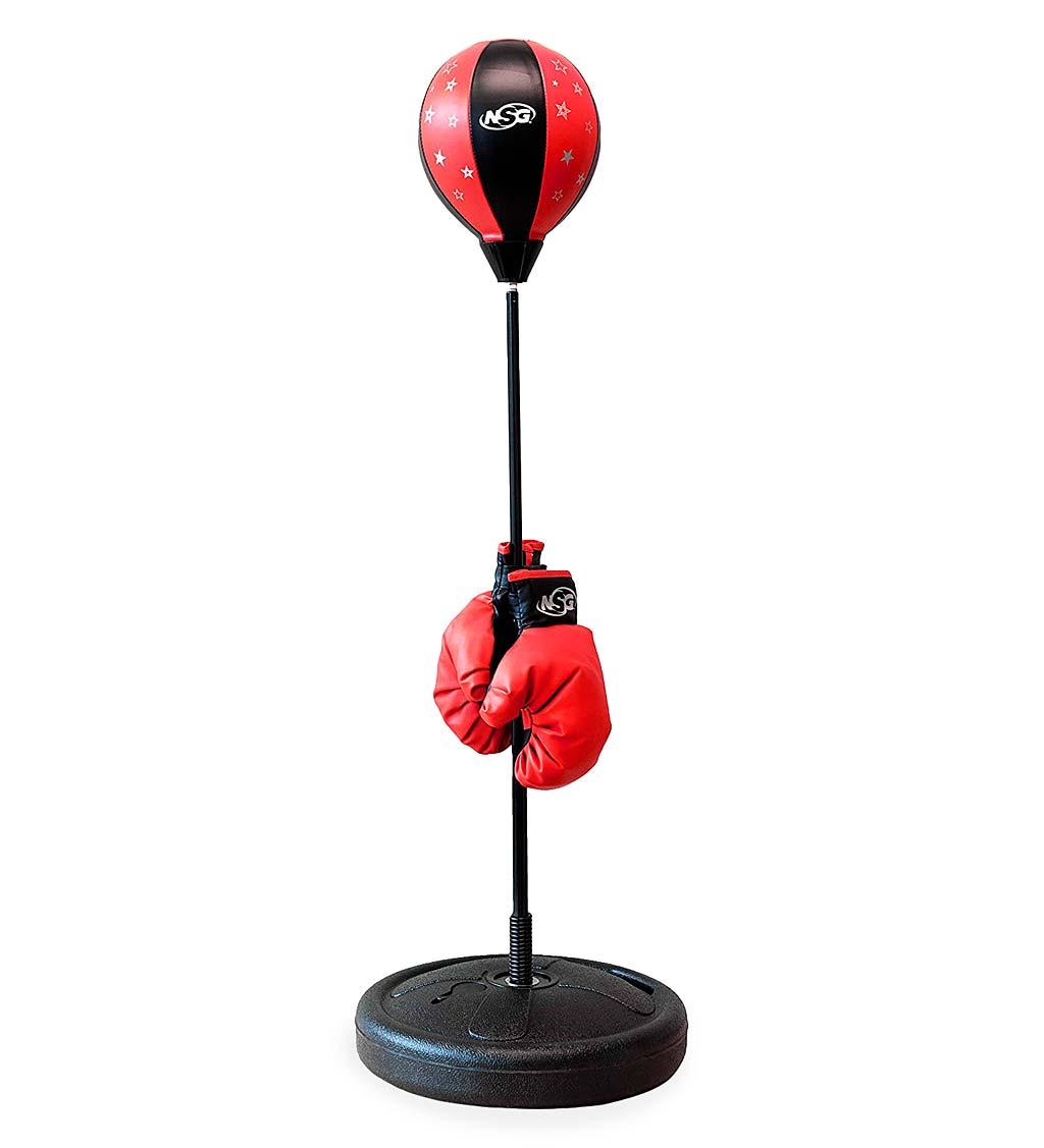 junior boxing set with adjustable punching bag