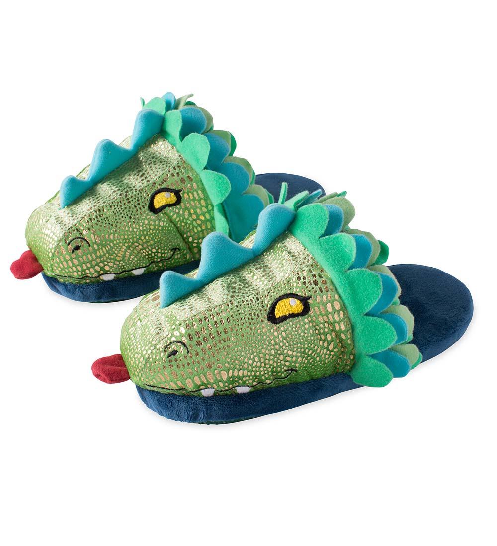 Kids' LED Light-Up Dragon Slippers