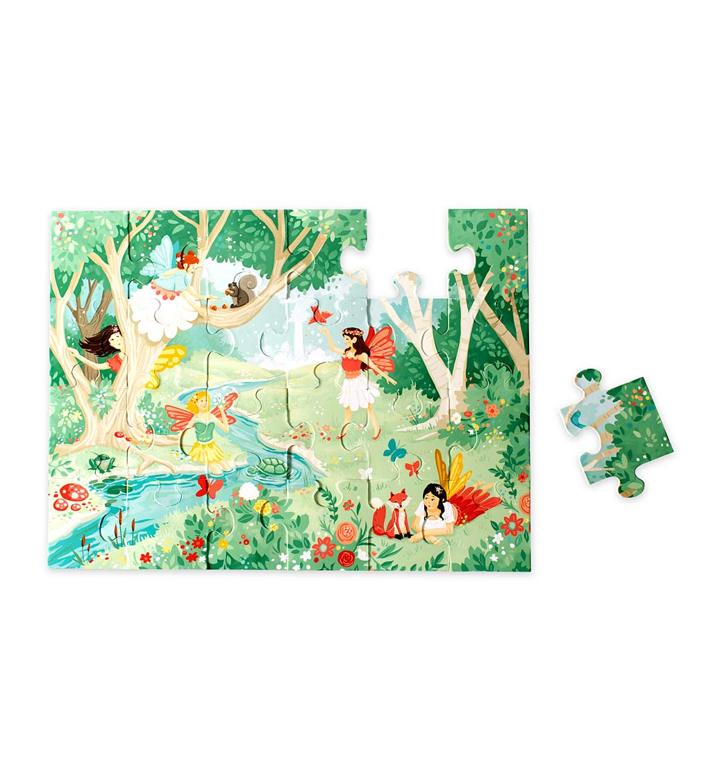 24-piece wooden fairy-themed puzzle