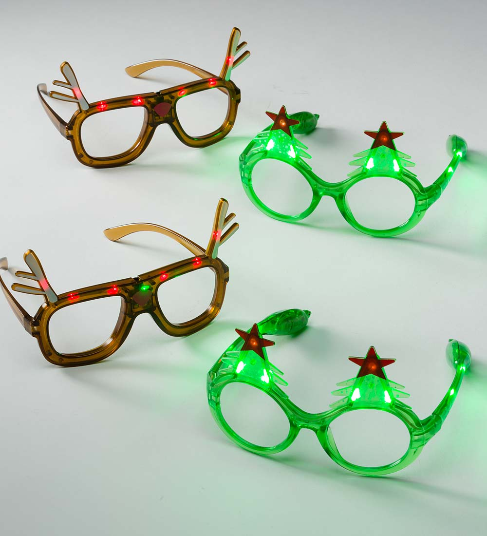 Light-Up Holiday Glasses