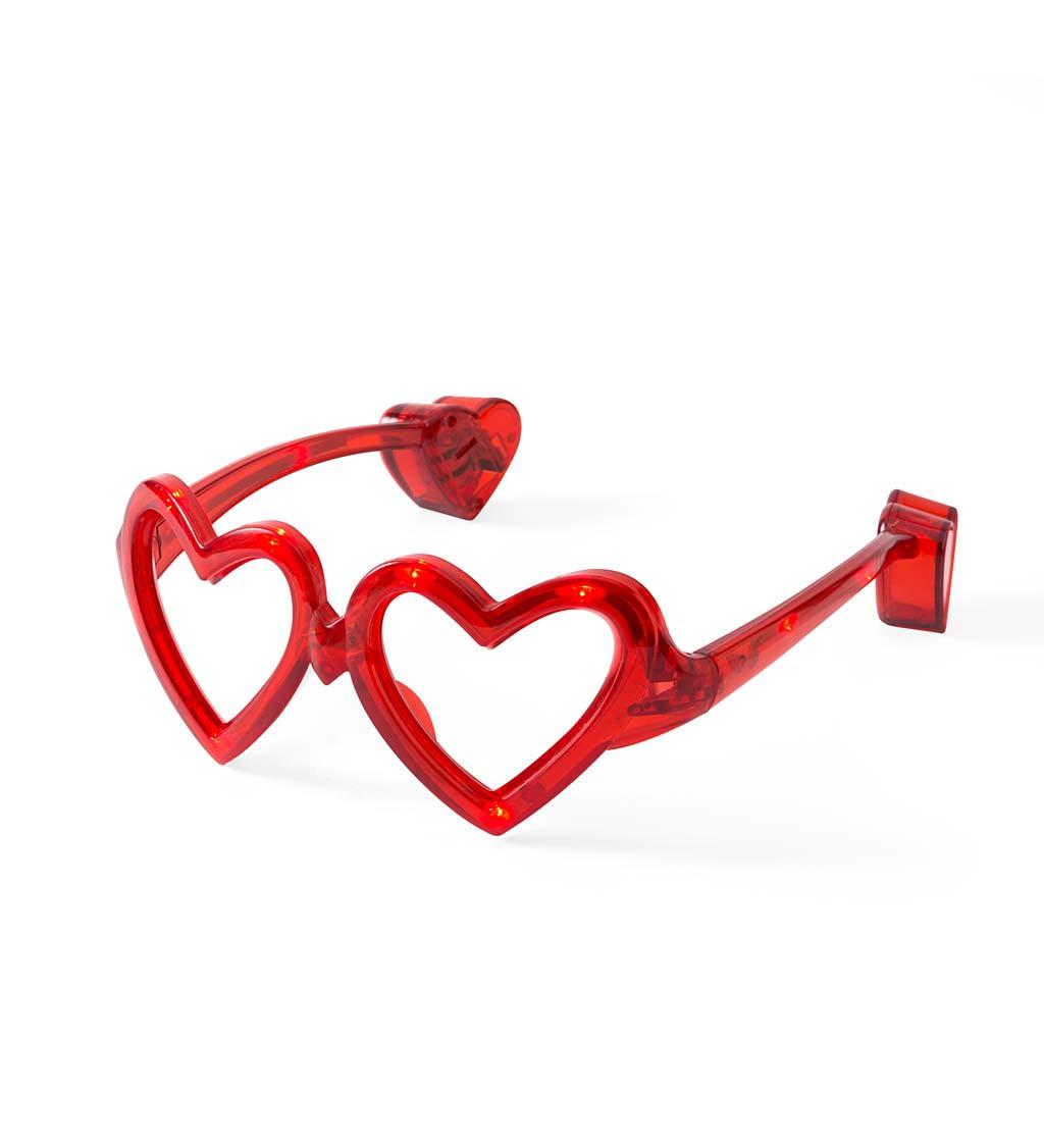 LED Eye Love You Heart Glasses (set of 3)