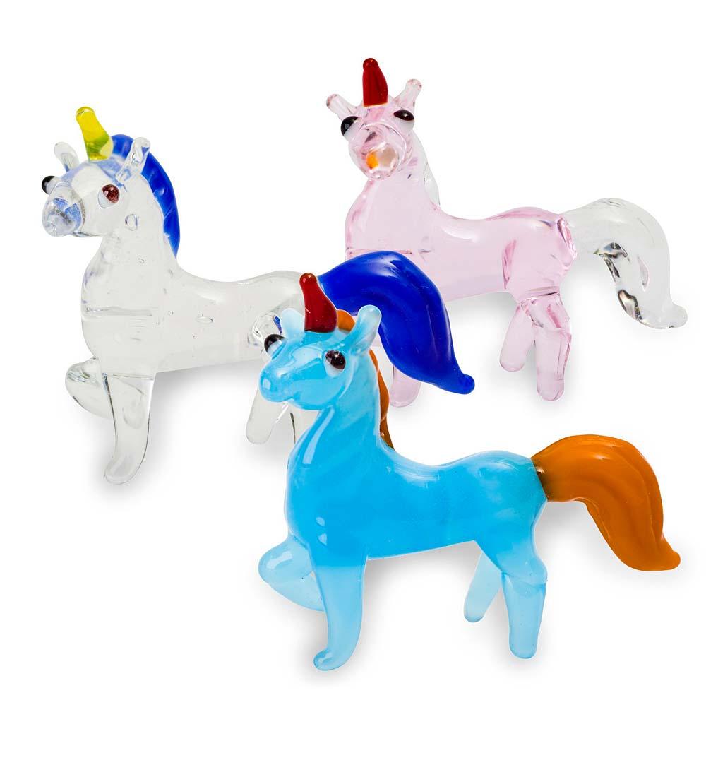 Tynies® Handmade Glass Pets: Unicorns (set of 3)