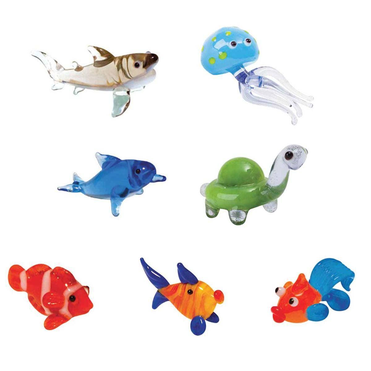 Tynies® Handmade Glass Pets: Ocean (set of 7)