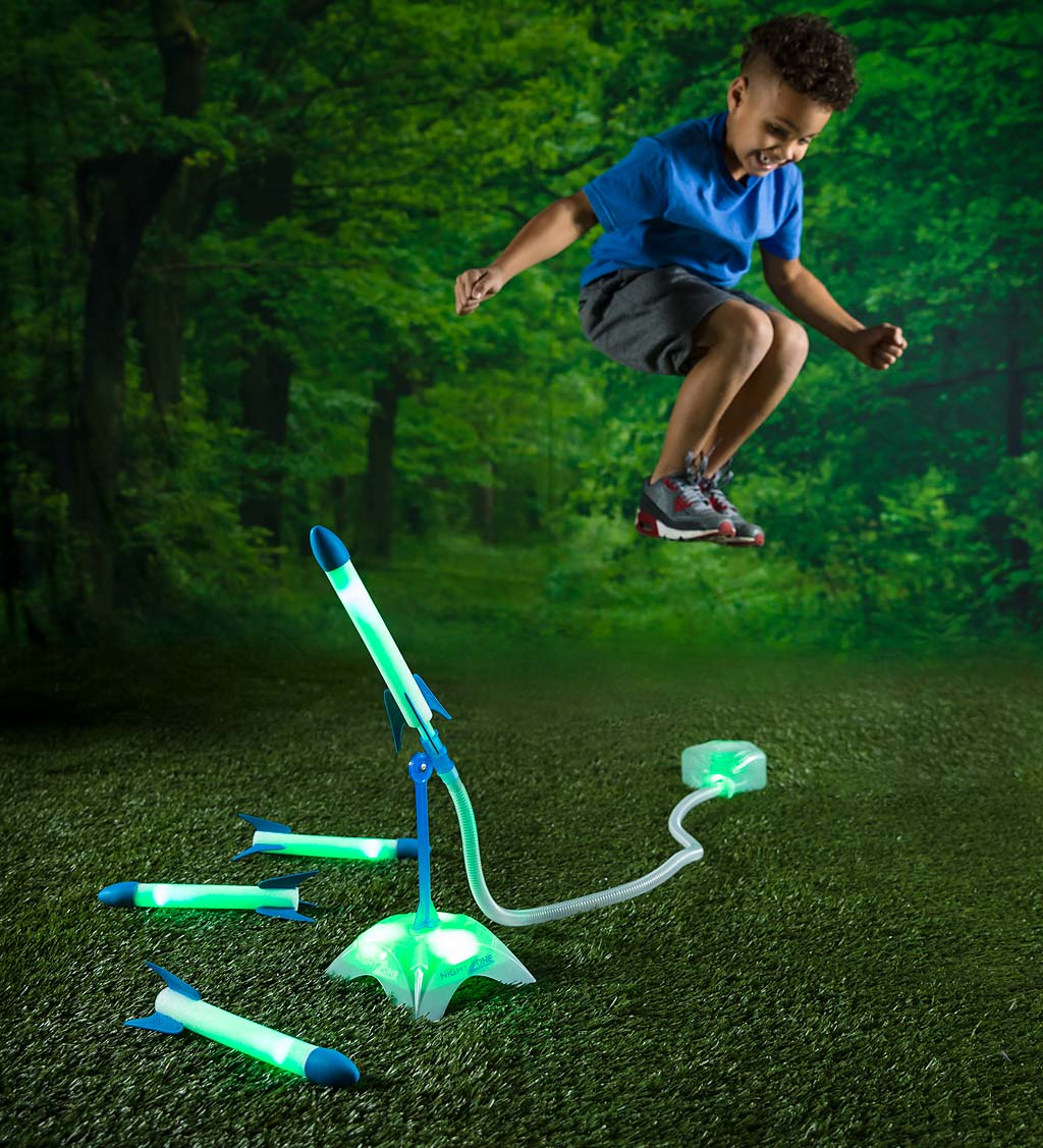 NightZone Ignition Light-Up Stomp Rockets